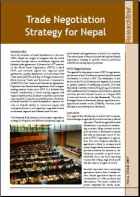 Trade Negotiation Strategy for Nepal