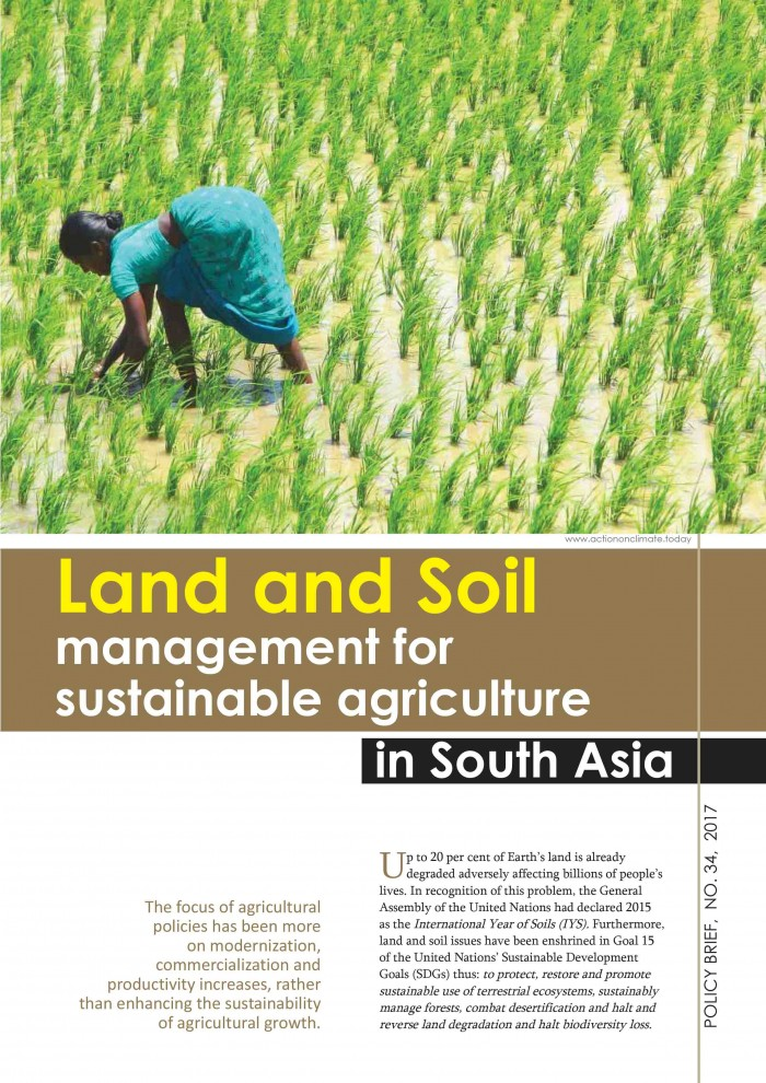 Land and Soil  management for  sustainable agriculture in South Asia
