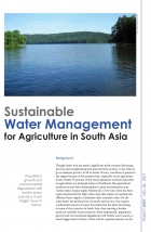 Sustainable Water Management  for Agriculture in South Asia