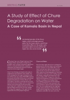 A Study of Effect of Chure Degradation on Water A Case of Kamala Basin in Nepal